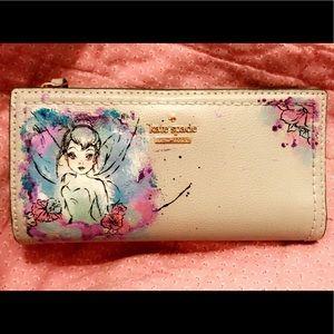 Kate Spade Custom Painted Tinker Bell Wallet
